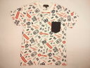 【セール】BLUECROSS(ブルークロス)★ブルークロスロゴいっぱい半袖Tシャツ