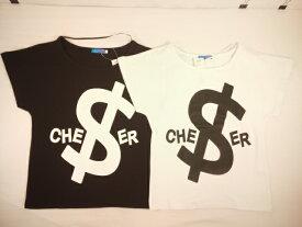 【セール】CHEER(チアー)★【キッズ・ダンス・衣装・ヒップホップ・ジャズ】$マーク&チアーロゴ総柄ビッグドルマンTシャツ