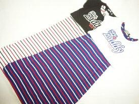 【セール】ZIDDY(ジディー)★ショート丈半袖Tシャツ&ボーダーマキシ丈ワンピース2点セット
