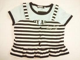 【セール】ZIDDY(ジディー)★ボーダービスチェ風キャミソール&半袖Tシャツ2点セット
