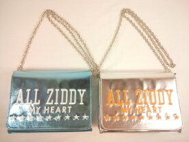 【セール】 ZIDDY(ジディー)★豪華ロゴ刺繍メタリックなチェーンバッグ