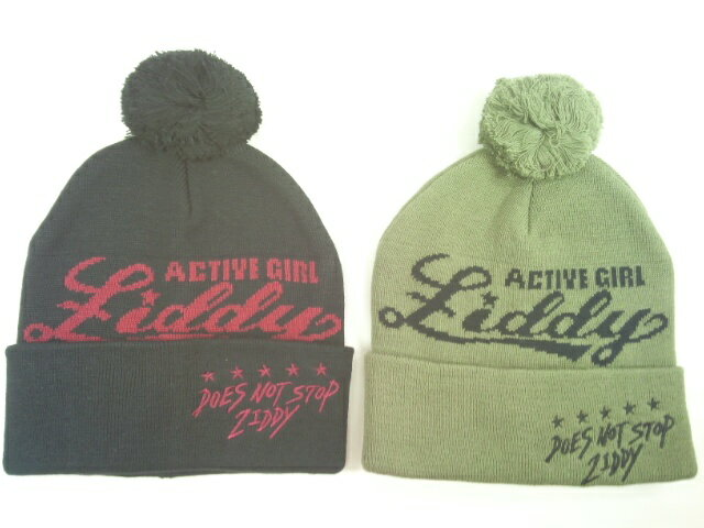 ZIDDY(ジディー)★【セール】【おすすめギフト】ボン天付きロゴニットキャップ帽子