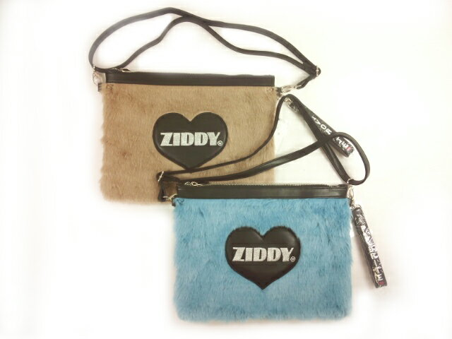 【セール】ZIDDY(ジディー)★【こだわりギフト】ショルダー取り外し可能ハートバッチ付き豪華フェイクファーのクラッチバッグ