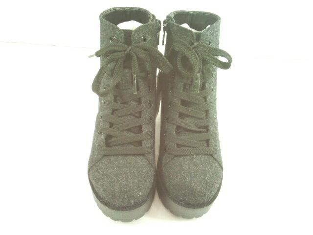 【セール】ZIDDY(ジディー)★【おすすめギフト】ワッペン付き安定感ヒールのスニーカーブーツ