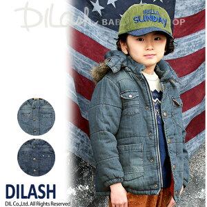 セール DILASH(ディラッシュ)秋'16★デニム中綿入りボアジャケット(80〜140)