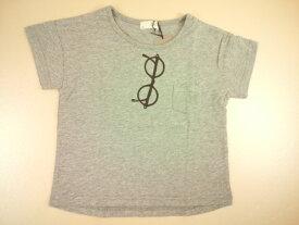 b-ROOM(ビールーム)★【セール】【Tシャツ/半袖】メガネプリント入り胸ポケットつき半袖Tシャツ