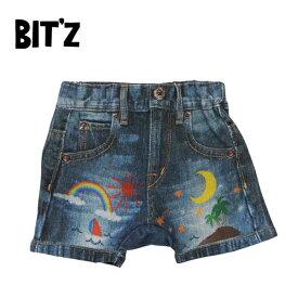 BIT'Z(ビッツ)★デニム転写ptオーバーパンツ(60〜80)