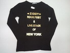 セール ジディー ZIDDY ロゴ箔プリント天竺長袖Tシャツ 長袖 Tシャツ 140 150 160cm