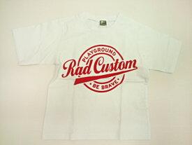 ラッドカスタム RADCUSTOM アメカジフロッキープリント半袖Tシャツ 半袖 Tシャツ 100 110 120 130 140 150 160cm