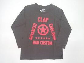 ラッドカスタム RADCUSTOM ラバープリントロゴ長袖Tシャツ 長袖 Tシャツ 90 100 110 120 130 140 150 160cm