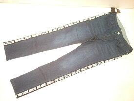 ジディー ZIDDY ロゴテープライン付きストレッチデニムスキニーパンツ ボトム ストレッチ デニム 140 150 160cm
