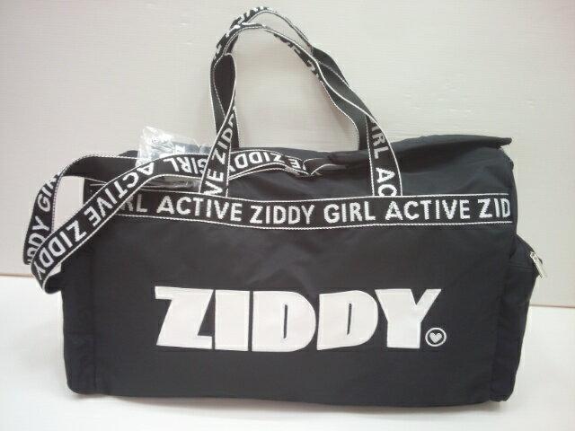 ジディー ZIDDY 取り外し可能ショルダー付きロゴテープ ナイロンボストンバッグ バッグ 旅行バッグ ボストンバッグ