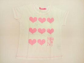 ロニィ RONI 天竺ハートプリント半袖Tシャツ 半袖 Tシャツ 125 135 145 155cm