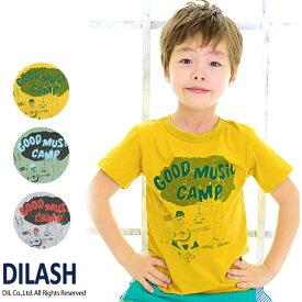 セール ディラッシュ DILASH ジュニア キャンプ柄Tシャツ 半袖 80 90 100 110 120 130 140 150cm 2019春夏