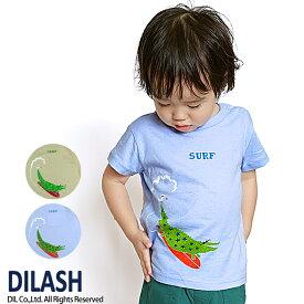 セール ディラッシュ DILASH ジュニア わにSURF Tシャツ 半袖 80 90 100 110 120 130 140cm 動物 2019春夏