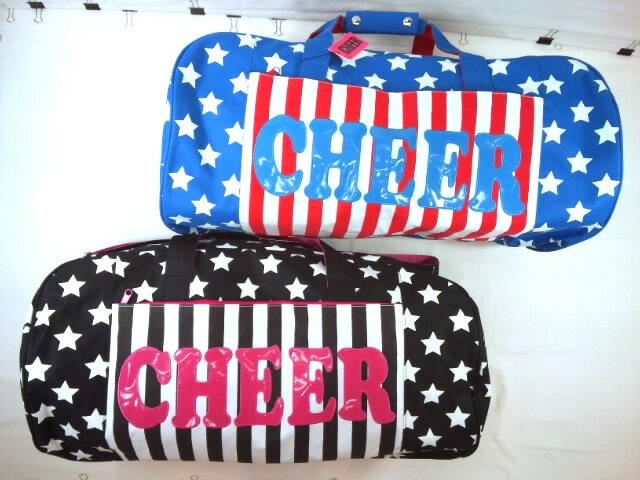 11月初旬に再入荷予定!!CHEER(チアー)★星条旗柄シリーズのショルダー付きボストンバッグ