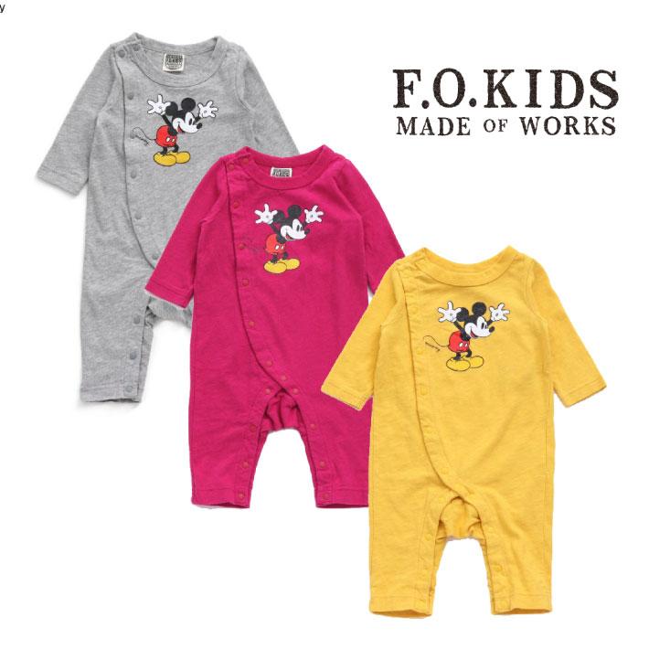 F.O.KIDS エフオーキッズ ディズニーミッキーカバーオール【2018秋冬】