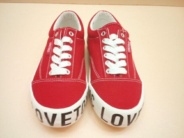 Lovetoxic(ラブトキシック)サイドソールロゴスニーカーシューズ靴/スニーカー/レッド/赤