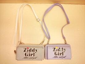 ZIDDY(ジディー)★ストライプ柄ショルダー取り外し合皮ウォレット