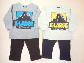 セール XLARGE KIDS ベビー エクストララージキッズ OGゴリラ裏毛トレーナー&デニム裏毛ロングパンツ