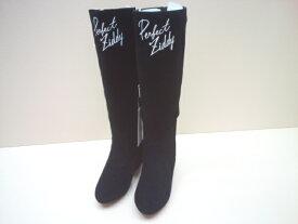 【セール】ZIDDY(ジディー)スウェード調スタッズ付きロングブーツ 靴 ロング ブーツ 20 21 22 23 24