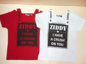 ZIDDY(ジディー)★肩がショルダー風ZIDDYロゴ半袖Tシャツ