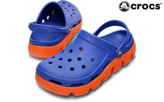 Crocs duet clog Crocs Duet sports clog regular products ladies mens Sandals sea blue / orange