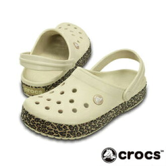 good service online for sale new arrive !   crocs crocband animal print clog clocks clock band animal print clog  Lady's men sandals 2WAY stucco gold