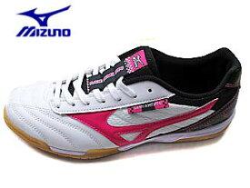 Mizuno ミズノQ1GB152364 ホワイト/ピンク ランサメントSL4 フットサル トレーニングシューズ