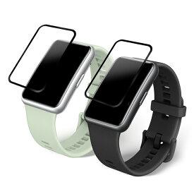 Huawei Watch Fit ガラスフィルム 強化ガラス 液晶保護フィルム /保護シート/ファーウェイウォッチ Fit衝撃吸収フィルム ファーウェイウォッチ フィット 用 液晶シールド