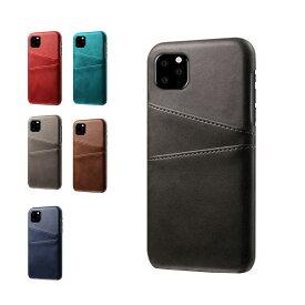 【強化ガラス付き】Apple iPhone11 / 11 Pro / 11 Pro Max ケース/カバー レザー調 背面カバー カード収納 カバー ハードケース おしゃれ アイフォン11 / 11プロ / 11プロマックス スマートフォンケース/カバー