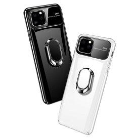 【強化ガラス付き】Apple iPhone11 / 11 Pro / 11 Pro Max ケース/カバー プラスチックケース/カバー リング付き アイフォン11 / 11プロ / 11プロマックス ハードケース 耐衝撃 落下防止 おしゃれ アップル スマホ スマートフォンケース/カバー
