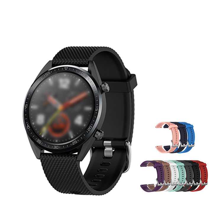 Huawei Watch GT用 交換バンド 柔軟性のあるシリコン素材のソフトタイプバンド ファーウェイウォッチ GT 交換リストバンド