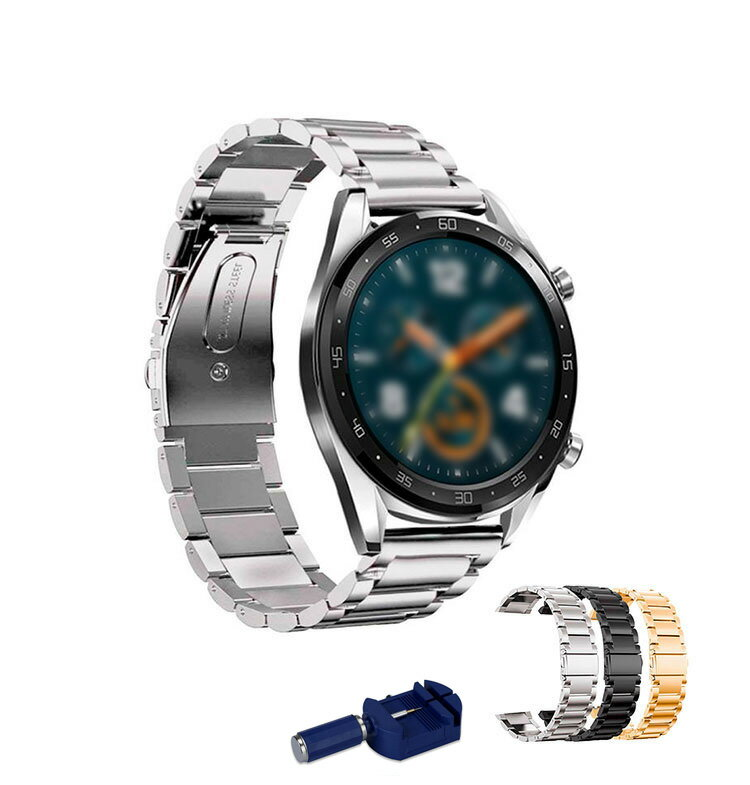 Huawei Watch GT用 交換バンド 取り外しの道具付き 高級ステンレス ベルト ファーウェイウォッチ GT メタル 交換リストバンド