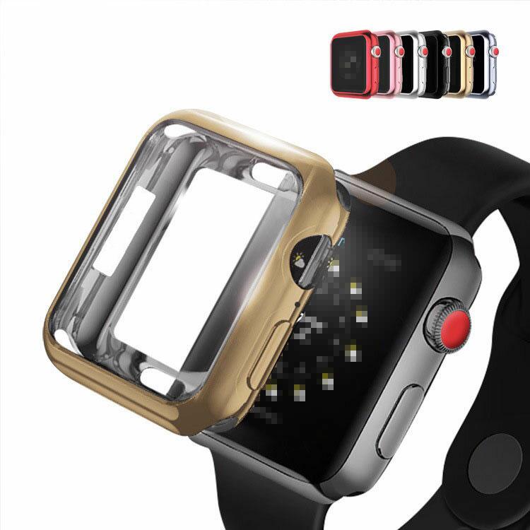 Apple Watch Series4 ケース/カバー メッキ 44mm TPU メタル調 鏡面加工 アップルウォッチ4 ソフトカバー