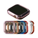 Apple Watch Series 4 ケース/カバー メッキ 40mm TPU メタル調 鏡面加工 アップルウォッチ4 ソフトカバー