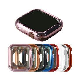 Apple Watch Series 5/4 ケース/カバー メッキ 40mm TPU メタル調 鏡面加工 アップルウォッチ4 ソフトカバー