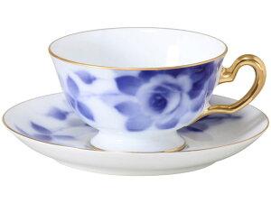 大倉陶園 日本製【大倉陶園 ブルーローズ(8011) カップ&ソーサー 6C/8011】洋食器 陶磁器 コーヒー 紅茶 ギフト 贈り物 贈答品 引出物 内祝い お祝い 母の日 敬老の日