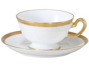 大倉陶園 日本製【大倉陶園 片葉金蝕 カップ&ソーサー 6C/1046】洋食器 陶磁器 コーヒー 紅茶 ギフト 贈り物 贈答品 引出物 内祝い お祝い