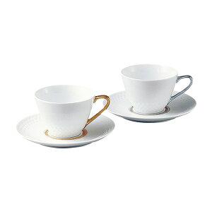 ノリタケ Noritake【ノリタケ アミ Amis ティー・コーヒー碗皿ペア P5389L/1605-6】シンプルモダン 白 金 銀 洋食器 陶磁器 カップ&ソーサー コーヒー 紅茶 ギフト 贈り物 贈答品 内祝い お祝い