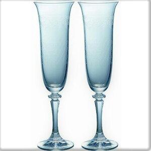 Bohemia ボヘミア【ラスカボヘミア Grace(グレース) フルートペア SVL-951/2】シャンパンフルートグラス シャンパン スパークリングワイン ペアグラス ボヘミアガラス ご贈答 ギフト プレゼント
