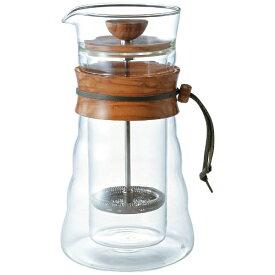 ハリオ HARIO【ダブルグラスコーヒープレス ウッド コーヒー&ティープレス 3杯用 オリーブウッド DGC-40-OV】フレンチプレススタイル コーヒー 紅茶
