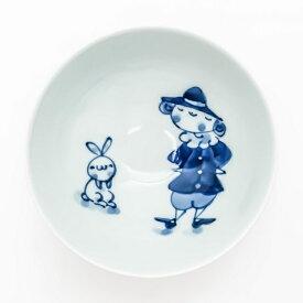 有田焼 青花子供食器【青花 紅毛人 3.2寸丸飯碗 S-09-821】ミニ茶碗 子供茶碗 ダイエット茶碗
