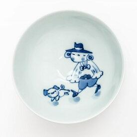 有田焼 青花子供食器【青花 マント異人 3.2寸丸飯碗 S-09-831】ミニ茶碗 子供茶碗 ダイエット茶碗