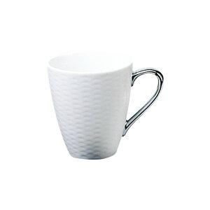 ノリタケ Noritake【ノリタケ アミ Amis マグカップ 銀 シルバー T5355L/1606】シンプルモダン 白 銀 洋食器 陶磁器 コーヒー 紅茶 ギフト 贈り物 贈答品 内祝い お祝い