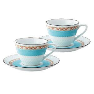 ノリタケ Noritake【ハミングブルー ティー・コーヒー碗皿ペア P5389L/1645】洋食器 陶磁器 カップ&ソーサー コーヒー 紅茶 ギフト 贈り物 贈答品 内祝い お祝い