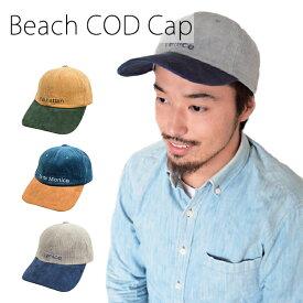 【SALE】【ゆうパケット送料無料】コーデュロイ素材のキャップ「Beach COD Cap」(TESTIFY)メンズ 男性 紳士 父の日 お父さん ギフト プレゼント帽子 男女兼用 メンズ レディース