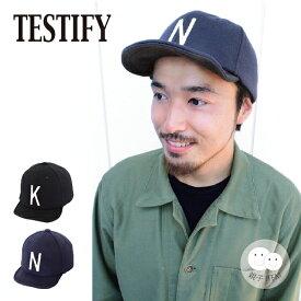 【ゆうパケット送料無料】Soft Logo Cap(TESTIFY) 帽子 メンズ レディース ユニセックス キャップ 父の日 スウェット 親子お揃い プレゼント ギフト おしゃれ ロゴ イニシャル