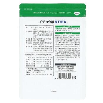 【送料無料・メール便】コプリナイチョウ葉&DHA30日分60粒入り