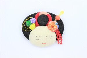 ブローチ 舞妓さんブローチ 紐 日本伝統 着物 リメイク 和雑貨 アクサセリー  ハンドメイド 手作り  古布 花びら 手芸 縫い物 オリジナル 髪飾り かんざし 小結 ブロ